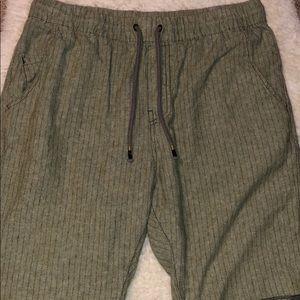 Howe Olive Green Drawstring Shorts Size 32